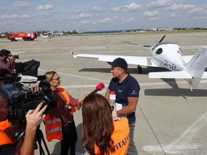 The Romanian media showed a lot of interest in the Memorial Flight.
