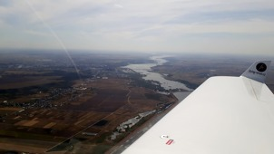 River Danube 40 minutes before landing at Bucharest-Baneasa airport