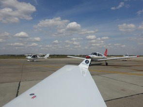 All the Memorial Flight aircraft are lining up for a celebratory water salute at Bucharest Baneasa airport