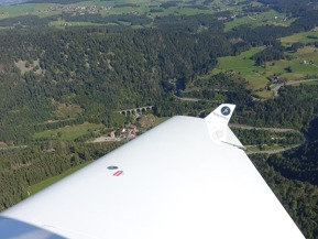 Schwarzwald, Germany, from the air.